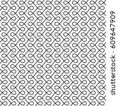 monochrome seamless thin swirls ... | Shutterstock .eps vector #609647909