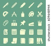 set of stationery icons. vector ... | Shutterstock .eps vector #609648944