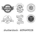 branding italian restaurant....   Shutterstock .eps vector #609649028
