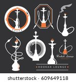 hookah lounge icon collection ... | Shutterstock .eps vector #609649118