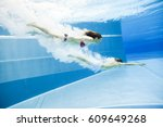 Underwater View Of A Young...