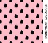 seamless brush stroke pattern. | Shutterstock .eps vector #609650018