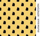 seamless brush stroke pattern. | Shutterstock .eps vector #609651494