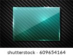 vector black carbon fiber... | Shutterstock .eps vector #609654164
