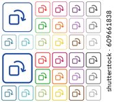 rotate element color flat icons ... | Shutterstock .eps vector #609661838