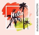 hello summer. modern...   Shutterstock .eps vector #609661934