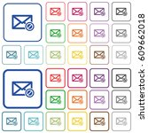 blocked mail color flat icons... | Shutterstock .eps vector #609662018