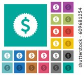 dollar sticker multi colored... | Shutterstock .eps vector #609681254