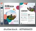 portfolio template vector.... | Shutterstock .eps vector #609686603