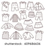 collection of children's... | Shutterstock .eps vector #609686636