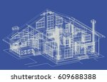 author's  brick house design... | Shutterstock .eps vector #609688388