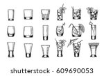 set of vector illustration of... | Shutterstock .eps vector #609690053