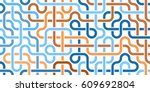 pipeline grid. abstract... | Shutterstock .eps vector #609692804