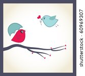 cute vector card with birds...