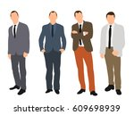 vector  illustration  business... | Shutterstock .eps vector #609698939