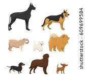 vector illustrations set of... | Shutterstock .eps vector #609699584