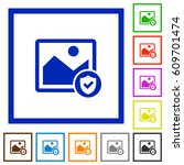 protected image flat color... | Shutterstock .eps vector #609701474