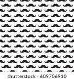 seamless pattern in a mustache | Shutterstock .eps vector #609706910