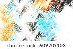 mosaic colorful pattern for... | Shutterstock . vector #609709103