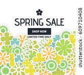 Spring Sale Ad Vector...