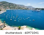 Bay on the Cote d'Azur in Southern France - stock photo
