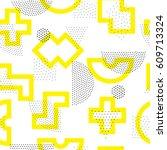vector geometric seamless... | Shutterstock .eps vector #609713324