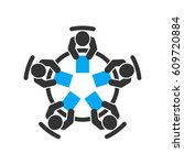business meeting vector icon. | Shutterstock .eps vector #609720884