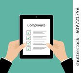 business cocept. in compliance...   Shutterstock .eps vector #609721796