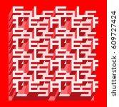 sale banner   different depth... | Shutterstock .eps vector #609727424