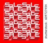 sale banner   different depth... | Shutterstock .eps vector #609727454
