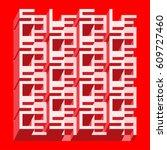 sale banner   different depth... | Shutterstock .eps vector #609727460