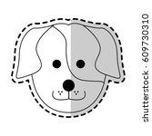 cute dog cartoon icon image    Shutterstock .eps vector #609730310
