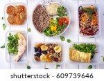 Healthy Food In Box. Fresh Box...
