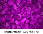 abstract 3d hearts vector... | Shutterstock .eps vector #609756770