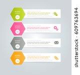 business infographics tabs... | Shutterstock .eps vector #609763694