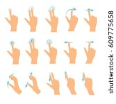 hand icons showing commonly... | Shutterstock .eps vector #609775658