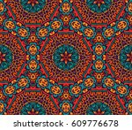 abstract ethnic colorful... | Shutterstock . vector #609776678