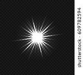 transparent glare background | Shutterstock .eps vector #609782594
