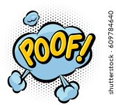 comic book poof effect. | Shutterstock .eps vector #609784640