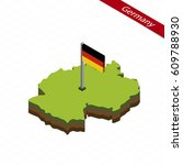 isometric map and flag of... | Shutterstock .eps vector #609788930