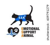 emotional support animal s...   Shutterstock .eps vector #609791279