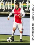 Small photo of NETHERLANDS, DEN HAAG - 16th Oct 2016: at the Kyocera Stadium, Ajax player Amin Younes