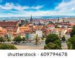 panoramic aerial view of erfurt ... | Shutterstock . vector #609794678