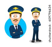 vector cartoon illustration of... | Shutterstock .eps vector #609796634