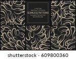 set of 5 vector abstract... | Shutterstock .eps vector #609800360
