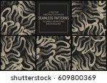 set of 5 vector abstract... | Shutterstock .eps vector #609800369