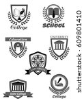 university  high school and... | Shutterstock .eps vector #609801410