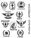 rugby football club icons set...   Shutterstock .eps vector #609802244