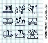 set of 9 platform outline icons ...   Shutterstock .eps vector #609802853