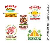 mexican restaurant template... | Shutterstock .eps vector #609803180
